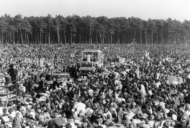 Pope John Paul II said Mass to more than one million people in the Phoenix Park during his 1979 visit. Photo: SSPL/Manchester Daily Express