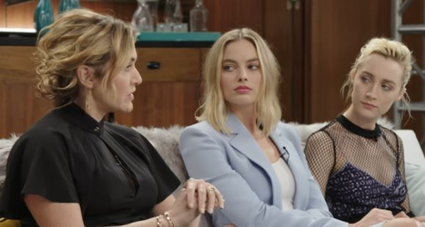 Kate Winslet, Margot Robbie and Saoirse Ronan during the The Envelope web series with the Los Angeles Times