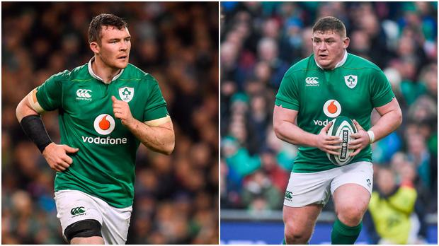 Peter O'Mahony (left) and Tadhg Furlong (right).