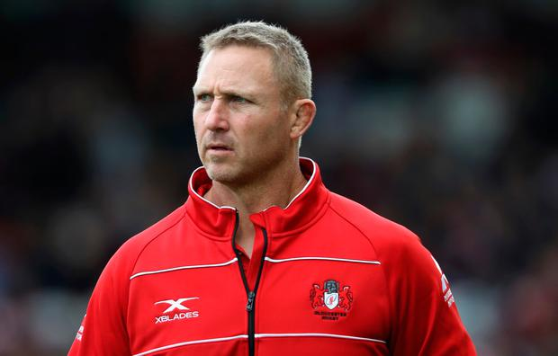 GLOUCESTER, ENGLAND - OCTOBER 07: Johan Ackermann, the Gloucester head coach looks on during the Aviva Premiership match between Gloucester Rugby and Northampton Saints at Kingsholm Stadium on October 7, 2017 in Gloucester, England. (Photo by David Rogers/Getty Images)