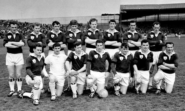 Galway's three-in-a-row heroes before the 1966 league final in Croke Park. Photo: Connolly Collection/Sportsfile