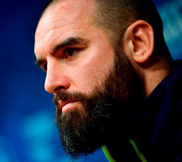Fardy in pensive mood at Leinster's press conference yesterday. Photo: Ramsey Cardy/Sportsfile