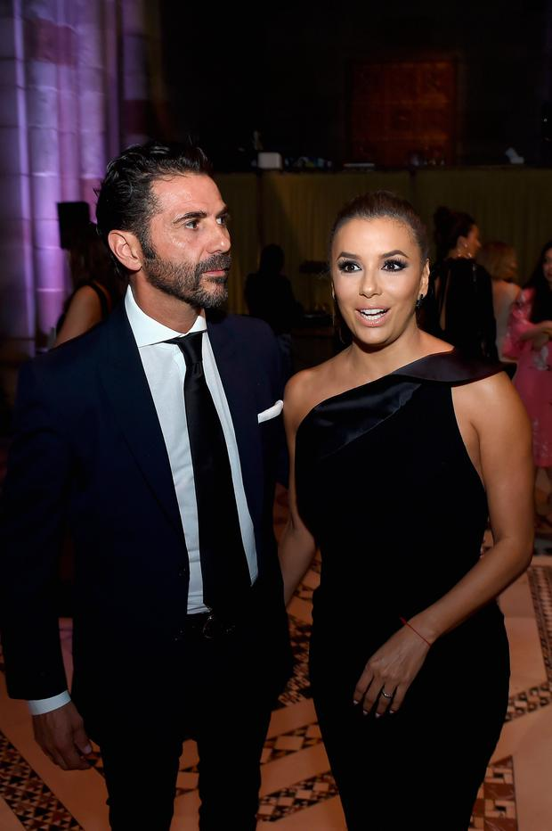 Jose Baston and Eva Longoria attend the Accessories Council's 21st Annual celebration of the ACE awards at Cipriani 42nd Street on August 7, 2017 in New York City. (Photo by Dimitrios Kambouris/Getty Images for ACE Awards)