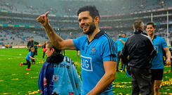 20 September 2015; Cian O'Sullivan, Dublin, following his side's victory. GAA Football All-Ireland Senior Championship Final, Dublin v Kerry, Croke Park, Dublin. Picture credit: Ramsey Cardy / SPORTSFILE