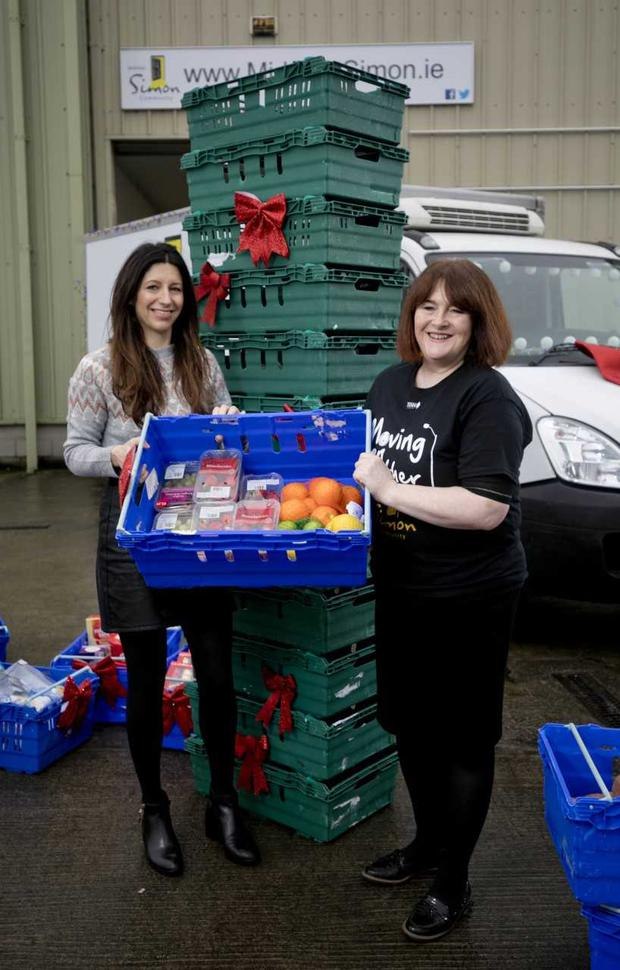 Tesco donate surplus food to the Simon Community