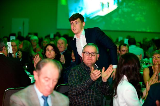 20th December 2017; Con OCallaghan winner of the Irish Independent Young Sportstar of the Year 2017 award at the star-studded 29th Irish Independent Sportstar Awards hosted in Croke Park Stadium in association with The Croke Park Hotel. Photo by Sam Barnes/Sportsfile