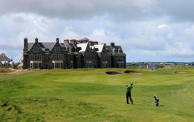 The Doonbeg resort owned by Donald Trump. Photo: PA