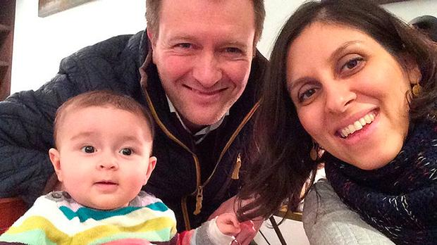 Jailed British mother Nazanin Zaghari-Ratcliffe with her husband Richard Ratcliffe and their daughter Gabriella. Photo: PA