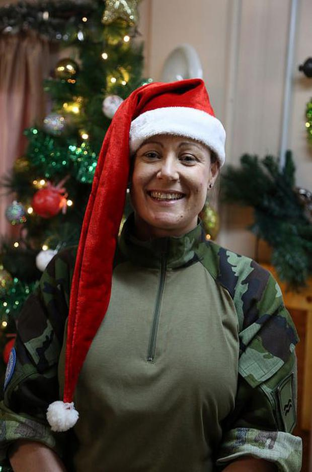 Cpl Lily Ray Carlow (111 Inf Bn, UNIFIL) Wishing my girlfriend Celine a very happy Christmas miss you and wishing my family and all the gang from Gallbally and the girls from Kiss a wonderful Christmas Love Lily
