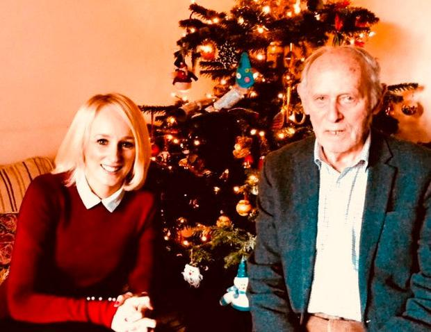 Sinead Kissane with Tom O'Riordan in his Clonskeagh home