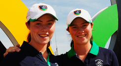 Sisters Lisa Maguire (left) and Leona Maguire. Photo: Scott Halleran/Getty Images
