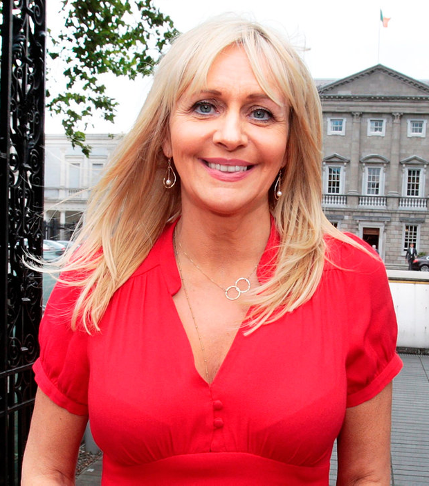 Miriam O'Callaghan pictured outside Leinster House. Photo: Tom Burke