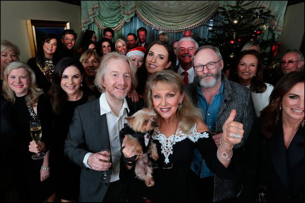 Barry Egan and his guests at the annual Sunday Living Christmas party. Photo: David Conachy