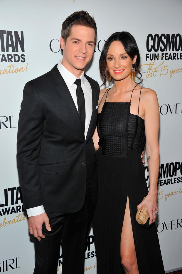Jason Kennedy and Catt Sadler attend the Cosmopolitan Fun Fearless Men and Women of 2012 at the Mandarin Oriental Ballroom on March 5, 2012 in New York City. (Photo by Theo Wargo/Getty Images)