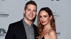Jason Kennedy (L) and Catt Sadler arrive at NBCUniversal's Press Junket at Beauty & Essex on November 13, 2017 in Los Angeles, California. (Photo by Amanda Edwards/WireImage)