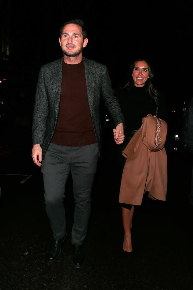 Frank Lampard and Christine Lampard seen attending Piers Morgan - Christmas party at Scarsdale Tavern on December 21, 2017 in London, England. (Photo by Ricky Vigil M/GC Images)