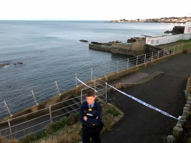 Scene of attack in Dun Laoghaire, Dublin this afternoon (Photo: Mark Condren)