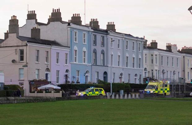 Emergency services leaving the scene of a daylight attack in Dun Laoghaire (Photo: Mark Condren)