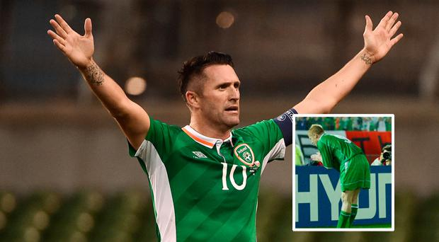 WATCH: Robbie Keane scores first goal in India and celebrates with trademark tumble...and a Damien Duff bow