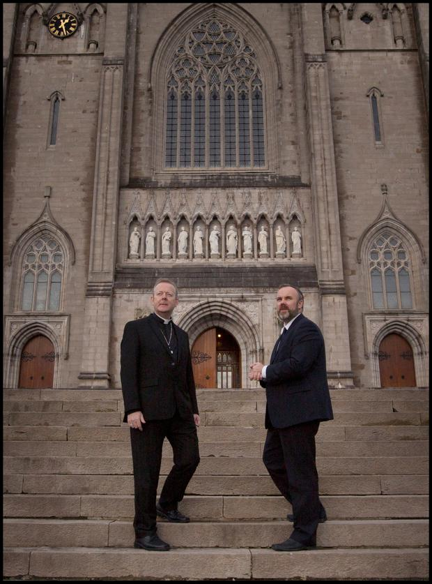 Interview: Archbishop Eamon Martin and 'Sunday Independent' Editor Cormac Bourke. Photo: David Conachy