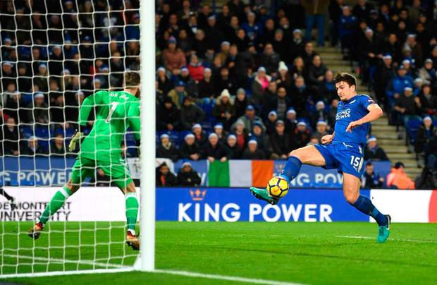 Harry Maguire snatched a dramatic last minute equaliser for Leicester against Manchester United