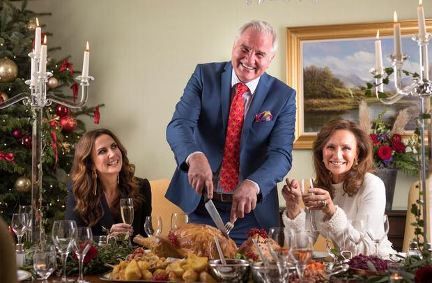 Lorraine Keane, Brent Pope and Celia Holman Lee at the Sunday Independent 'Living' Christmas party