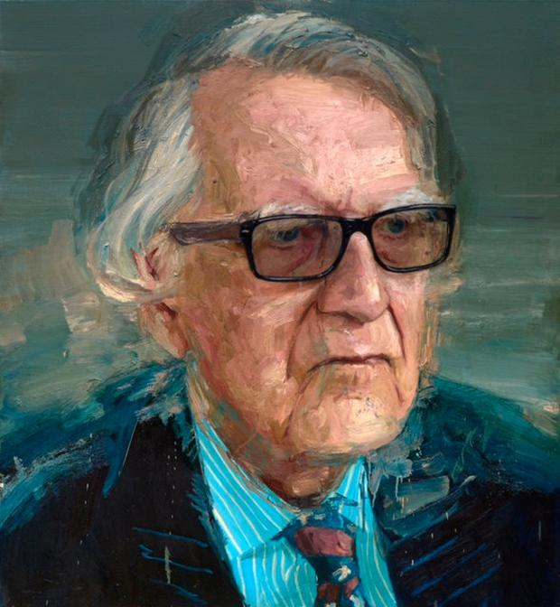 PAINTING: Celebrated Co Down-based artist Colin Davidson recently completed this portrait of Maurice Hayes, which was presented to the former senator and his family just a few weeks ago