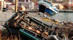 Destruction in Road Town, Tortola, British Virgin Islands, left by Hurricane Irma on September 10, 2017. Photo: Getty Images