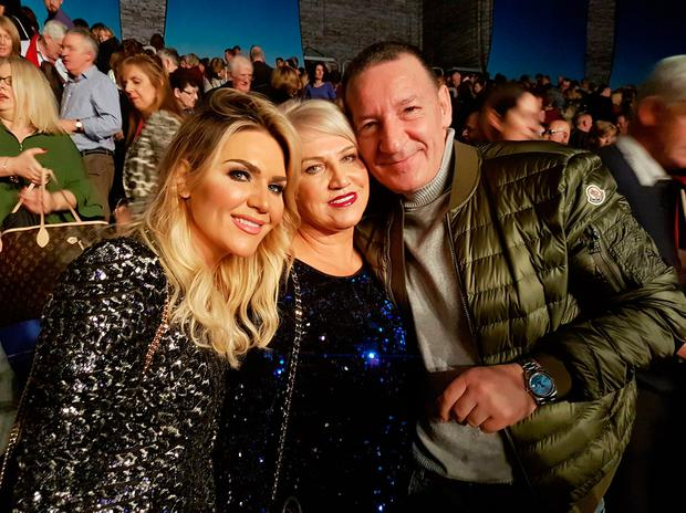 Erin McGregor, Margaret McGregor, Tony McGregor watch Imelda May perform at 3Arena