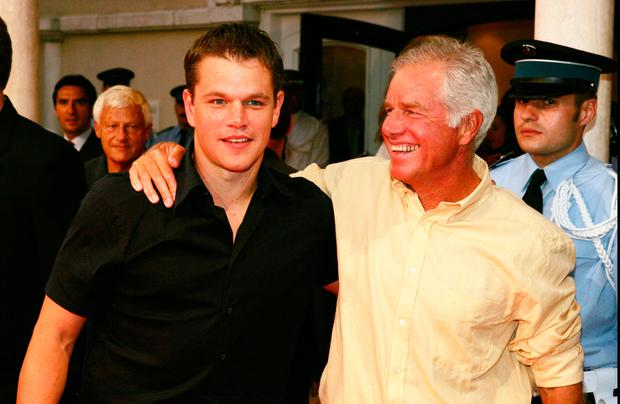 Matt Damon and his father Kent Damon attend