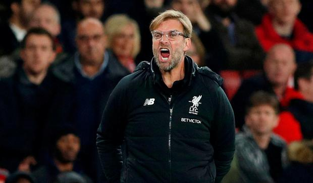Liverpool manager Jurgen Klopp. Photo: Action Images via Reuters