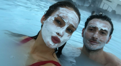 Roz Purcell and Zach Desmond in Iceland