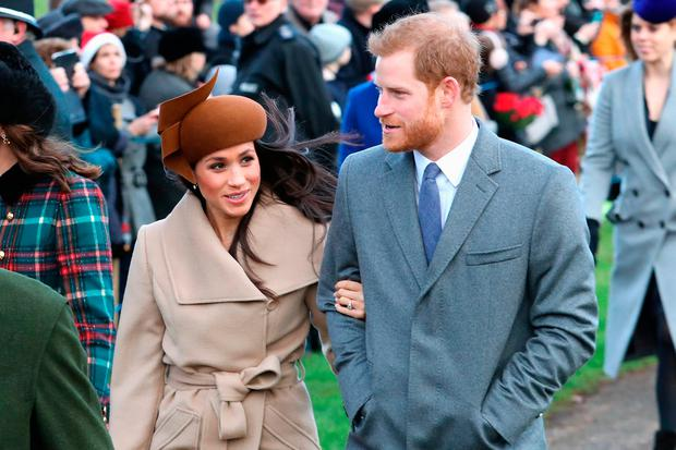 Meghan Markle and Prince Harry attend Christmas Day Church service at Church of St Mary Magdalene on December 25, 2017 in King's Lynn, England. (Photo by Chris Jackson/Getty Images)