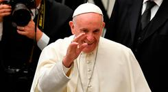Pope Francis is due to come to the World Meeting of Families in Dublin. Photo: AFP/Getty Images