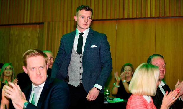 Joe Canning winner of the Irish Independent Magic Sports Moment 2017 award pictured at the star-studded 29th Irish Independent Sportstar Awards hosted in Croke Park Stadium in association with The Croke Park Hotel. Photo by Sam Barnes/Sportsfile