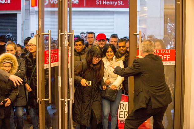 Shoppers make their way into Arnotts for the St Stephens' Day sales. Picture: Mark Condren