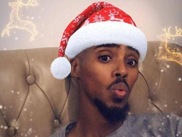 Mo Farah posted a Merry Christmas message on his Instagram account. Instagram/gomofarah