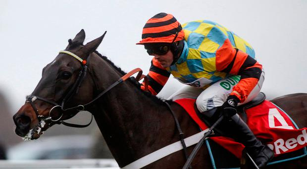 Might Bite ridden by Nico de Boinville winning the King George at Christmas