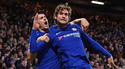 Marcos Alonso and Alvaro Morata scored for Chelsea