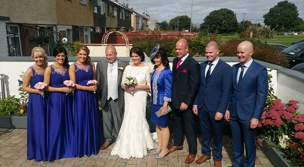 Charlie McCarthy (far right), his brothers Daniel and John, sisters Siobhan and Michelle, and parents Charlie and Margaret pictured at Karina Dolan's wedding in September 2016