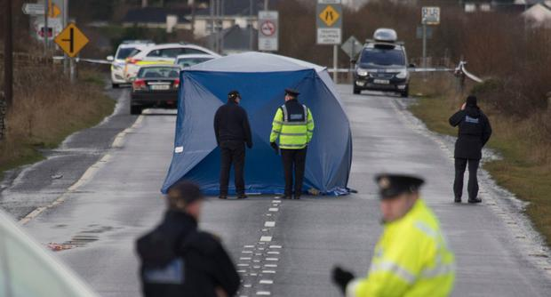 The scene of the accident in north Donegal where a young man lost his life is sealed off. Photo: North West Newspix