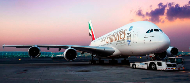 Emirates has 100 A380s