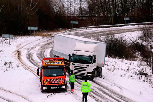 Drivers urged to take care with ice and snow expected