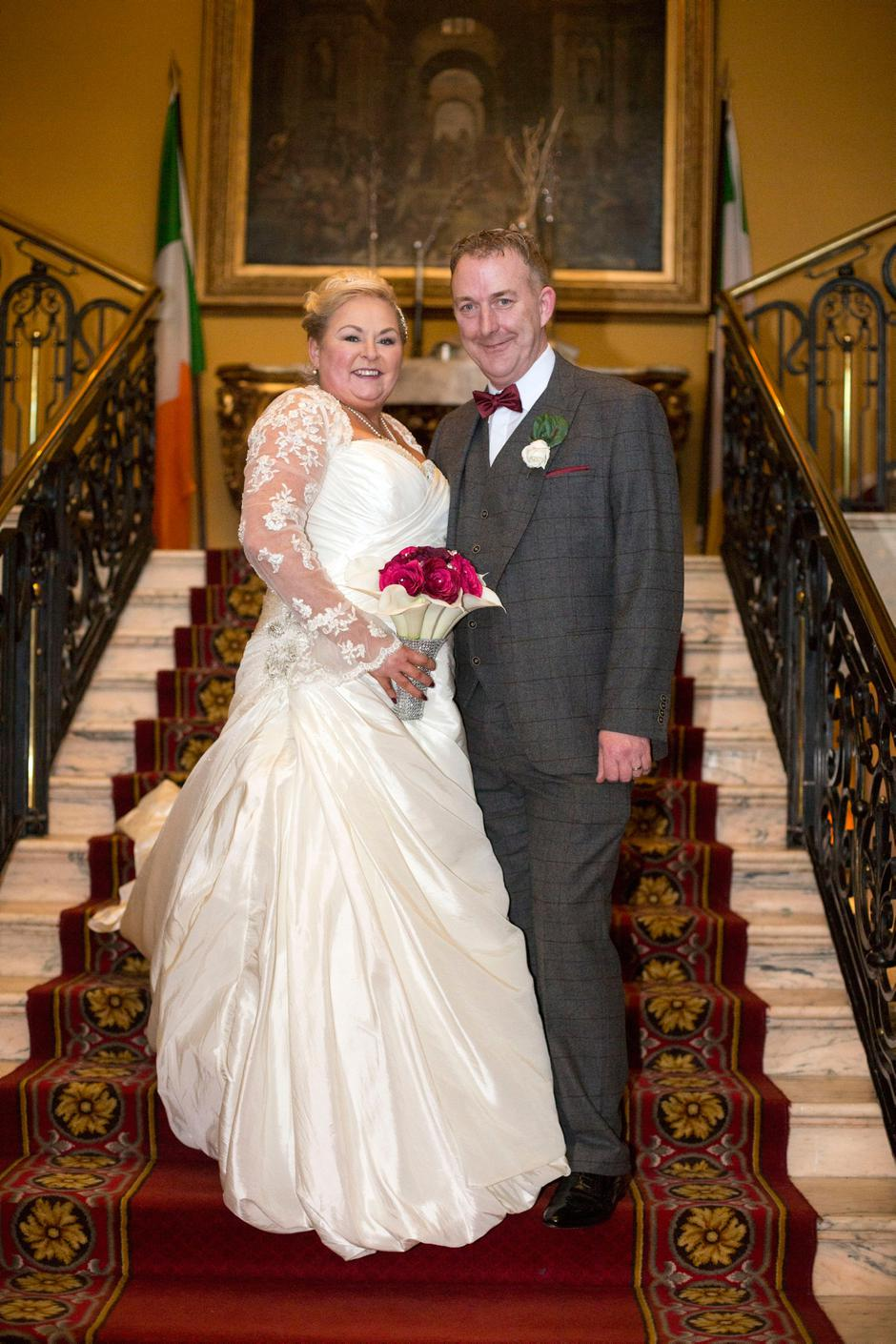 Radio host adrian kennedy and his new bride say i do to honeymoon herald columnist adrian kennedy married his long term partner linda byrne in the bridgehouse hotel junglespirit Gallery