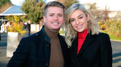 Pippa O'Connor and Brian Ormond at the Cliff Style awards at the Leopardstown Christmas Racing Festival. Picture: Brian McEvoy