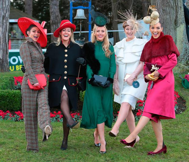 ef7e888c166 Finalists in the Most Stylish Lady Competition at the Cliff Style awards at  the Leopardstown Christmas