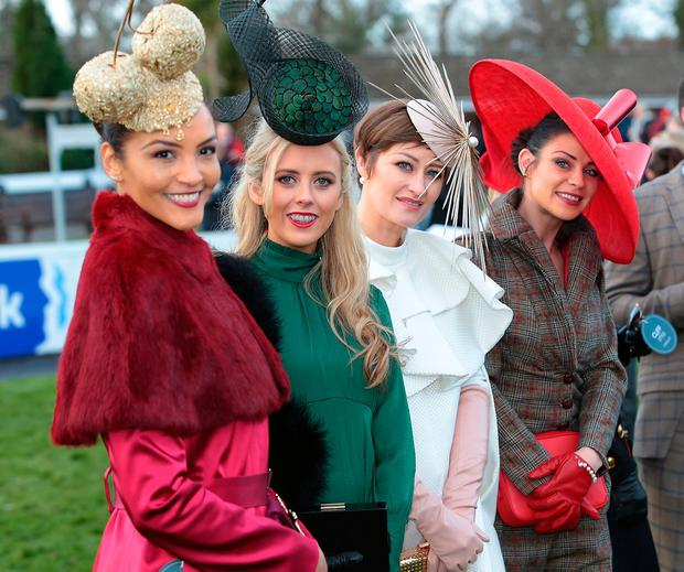 Finalists at the Cliff Style awards at the Leopardstown Christmas Racing Festival Pictures Brian McEvoy