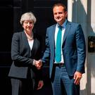 Leo Varadkar meets Theresa May at 10 Downing Street in June. Photo: Dominic Lipinski/PA
