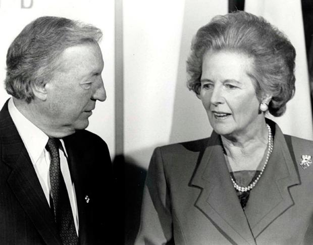 Margaret Thatcher subjected Charles Haughey to a furious tirade in Denmark in December 1987