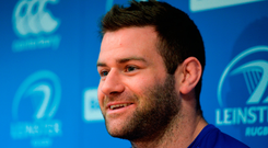 Fergus McFadden during a Leinster rugby squad press conference at Leinster Rugby Headquarters in Dublin. Photo: Piaras Ó Mídheach/Sportsfile